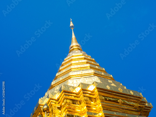 Tuinposter Bedehuis Wat Phrathat Doi Suthep Temple in Chiang Mai, Thailand.