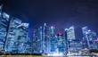 シンガポールのビル夜景