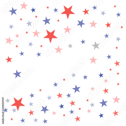 Fotografija  United States Patriotic background in flag colors with faded dull stars scattere