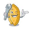 Mechanic pastel mascot cartoon style
