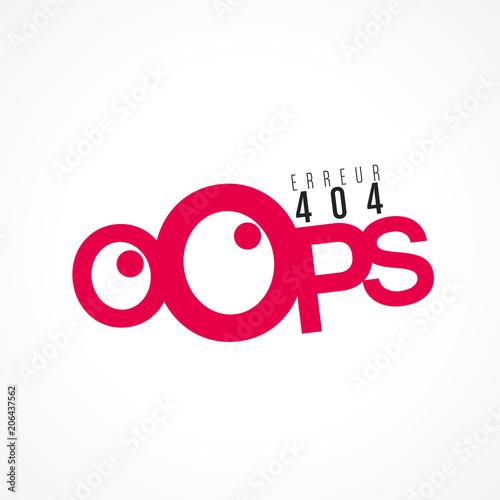 oops erreur 404 Fotobehang
