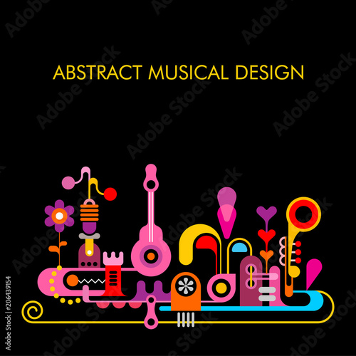 Wall Murals Abstract Art Abstract Musical Design