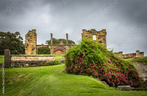 Photo Buildings at Port Arthur penal colony world heritage site in Tasmania