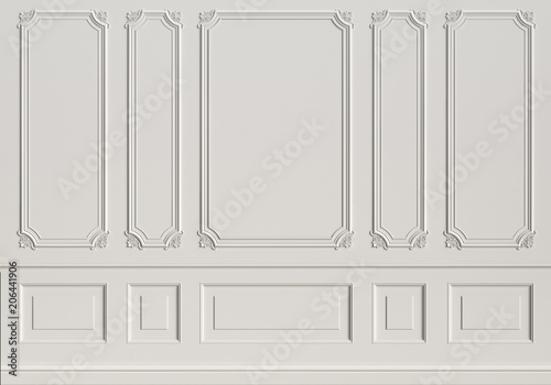 Obraz Classic interior wall with mouldings - fototapety do salonu