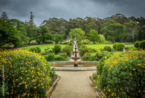 Gardens and buildings at Port Arthur penal colony world heritage site in Tasmani Canvas Print