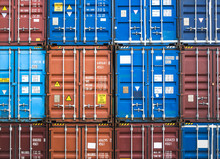 Containers Stack Cargo Shipping Logistic Freight Warehouse Transport Business Colorful Pattern