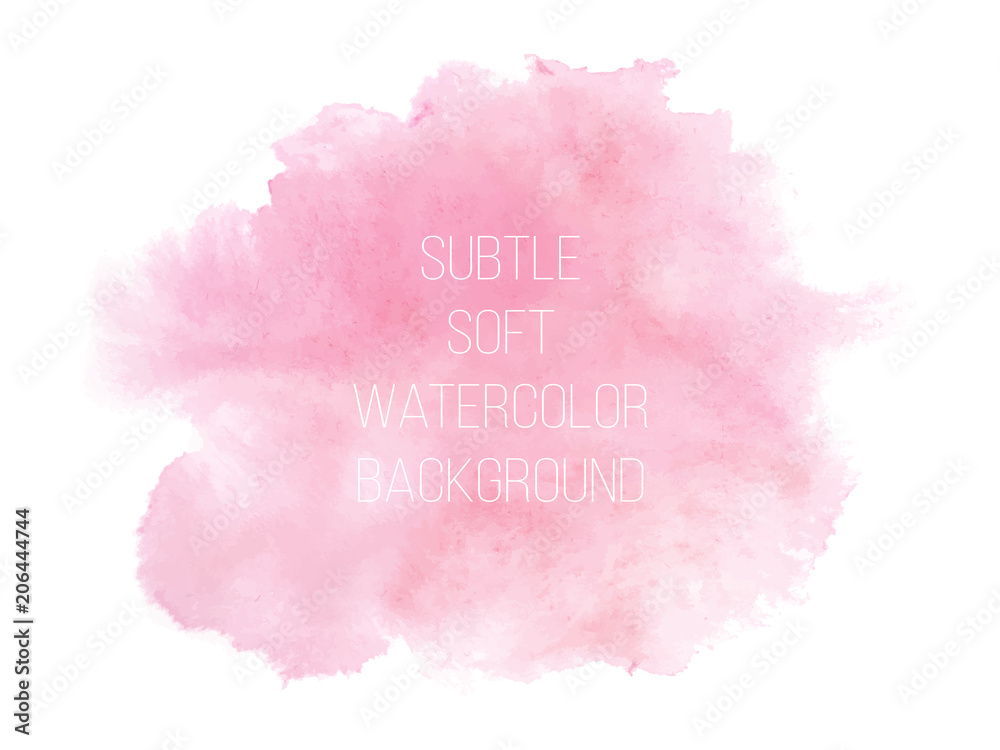 Fototapety, obrazy: Soft pink powder color watercolor background.
