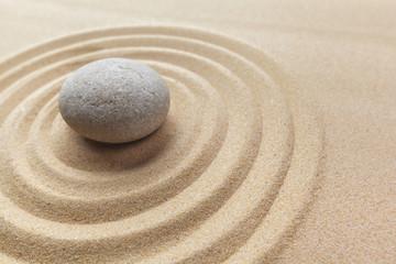 Fototapeta na wymiar zen garden meditation stone background