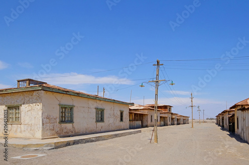 Photo  Abandoned Humberstone and Santa Laura saltpeter works factory, near Iquique, northern Chile, South America