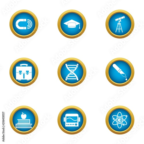 Vászonkép Astronomer icons set