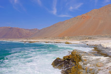 Beautiful View Of The Pacific Coast Of The Atacama Desert, North Of Tocopilla, Northern Chile, South America