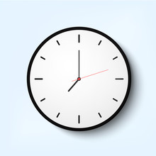 Light Wall Clock With Thin Time Arrows