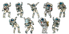 Set Of Dancing Astronauts Coll...