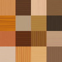 Parquet Floor. Different Types Of Wood, Glazes, Textures, Patterns - Vector Illustration Of Flooring Samples - Seamless Extension Of Wooden Checkerboard Segments In All Directions Possible.