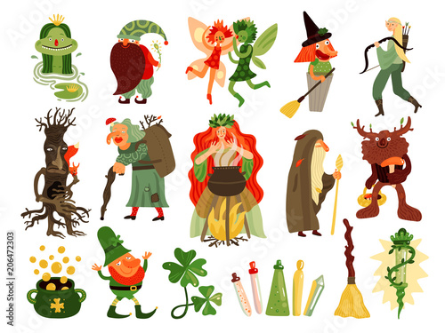 Fairy Tale Forest Characters Set Poster