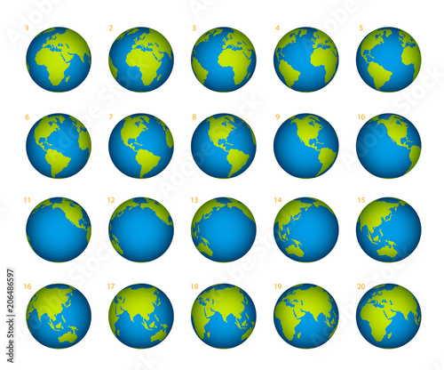 Obraz Planet rotation on a white background - fototapety do salonu
