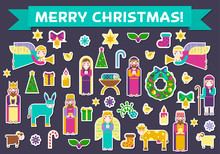 Merry Christmas Sticker Icons ...