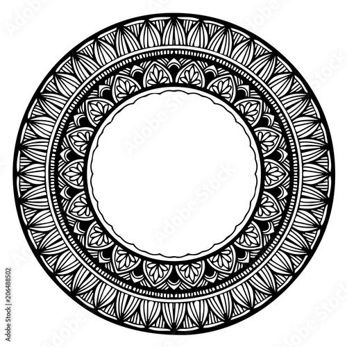 In de dag Boho Stijl Mandalas for coloring book. Decorative round ornaments. Unusual flower shape. Oriental vector, Anti-stress therapy patterns. Weave design elements. Yoga logos Vector.