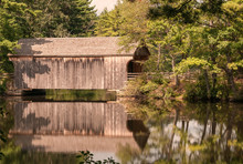 Covered Bridge Reflection In A...