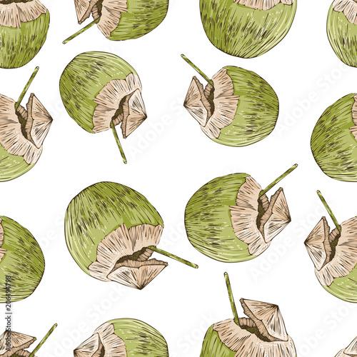 Materiał do szycia Kokosowy wzór, wektor