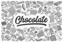 Hand Drawn Chocolate Vector Doodle Set.