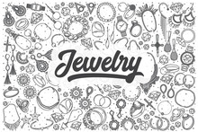 Hand Drawn Jewelry Vector Dood...