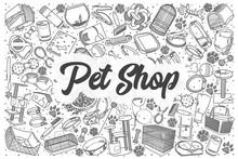 Hand Drawn Pet Shop Vector Doo...