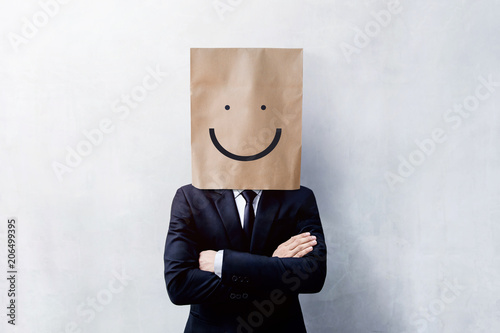 Valokuva  Customer Experience Concept, Portrait of Happy Businessman Client with Smiley Fa