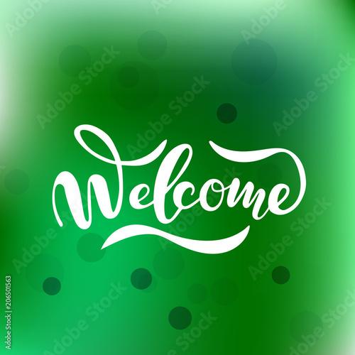 Hand sketched Welcome lettering typography Billede på lærred