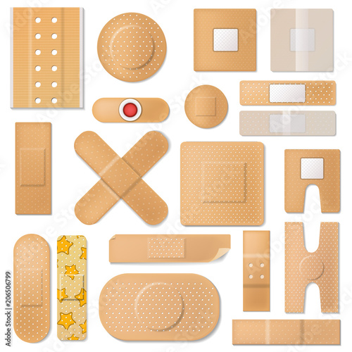 Bandage vector plaster medical band aids protection patch