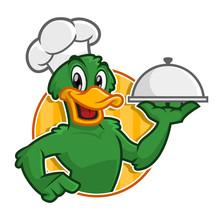Vector Of Duck Chef Character ...