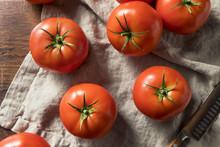 Raw Red Organic Tomatoes
