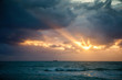 Sunrise in Atlantic Ocean in Miami Beach