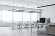 Modern meeting room interior in open space office