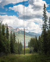 Telephone Post Line Through Th...