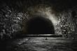 Leinwandbild Motiv Scary underground, old castle cellar