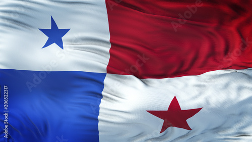 Poster Texas PANAMA Realistic Waving Flag Background