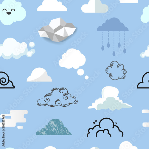 Foto  Cloud icon different style vector icons cloudy design nature sky shape cloudscap
