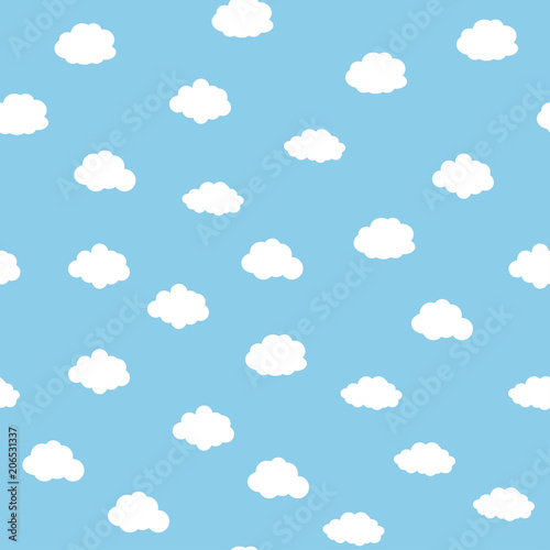 obraz lub plakat Blue sky with clouds seamless background