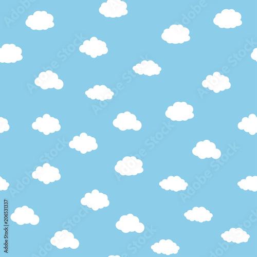 fototapeta na drzwi i meble Blue sky with clouds seamless background