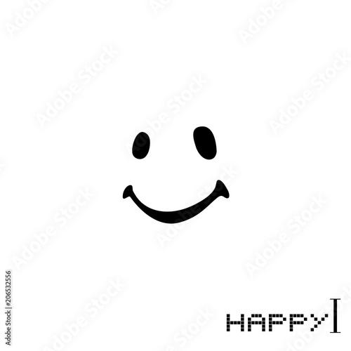 Fotografia  happy face icon