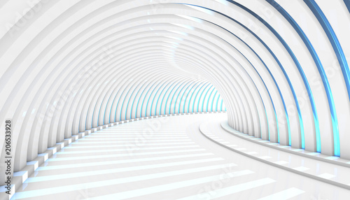 Abstract Tunnel 3d Background Lerretsbilde