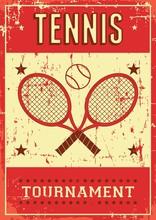 Tennis Sport Retro Pop Art Pos...