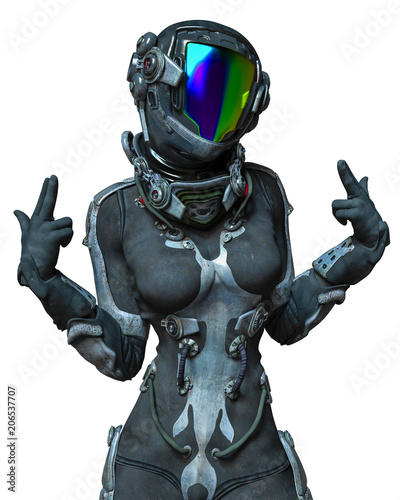 apocalyptic astronaut girl ...