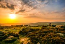 Sunset Over Ilkley Moor, Yorkshire
