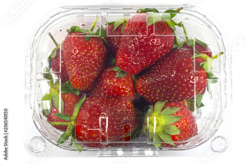 Strawberry pack isolated with a clipping path