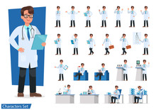 Set Of Doctor Character Design...