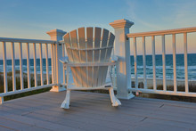 Adirondack Chair Sits On The B...