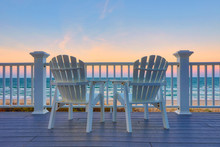 Adirondack Chair Sits On The B...