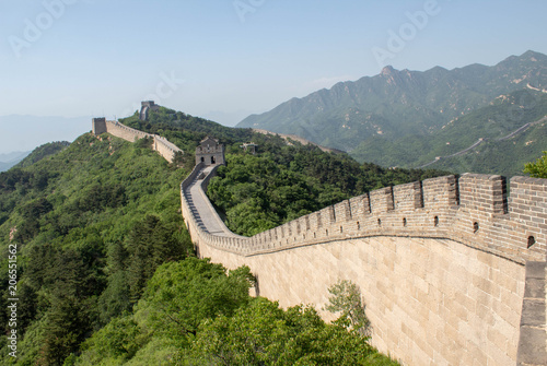 Fotografia View of the Great Wall of China